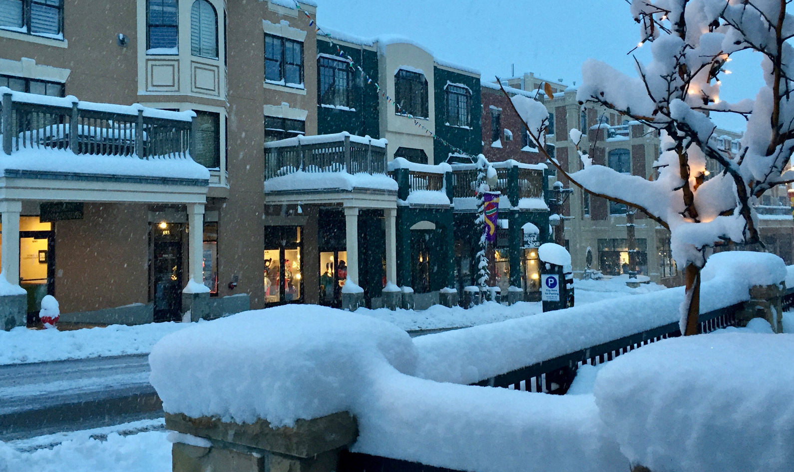 Snow covered Main Street