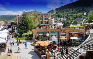 Main Street market in Park City, Utah