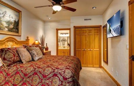 Town Lift Condominium master suite