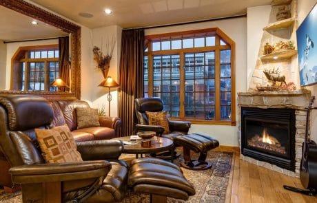 Town Lift Condominium fireplace